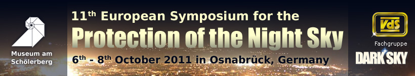 11th European Symposium for the Protection of the Night Sky - 6th-8th October 2011 in Osnabrück, Germany